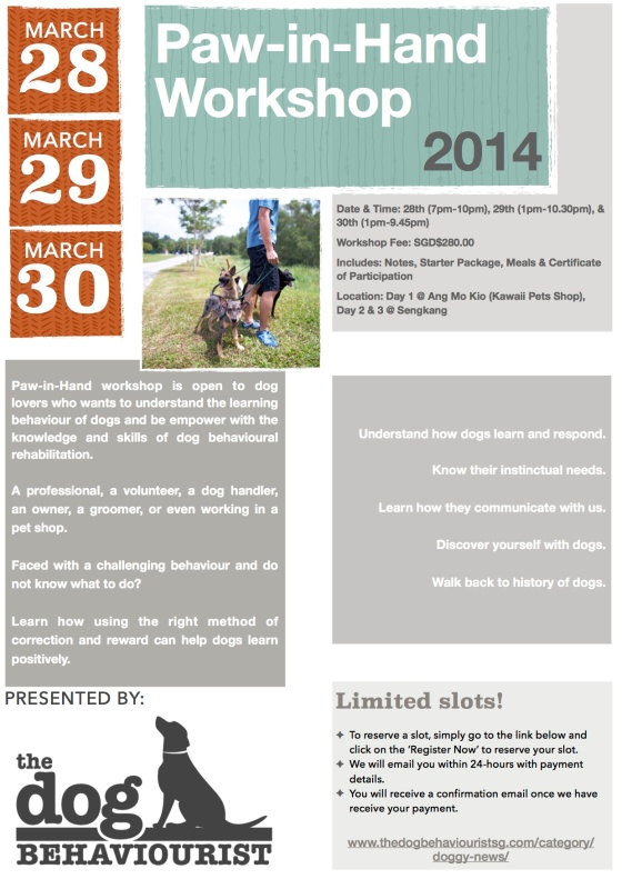 Paw-in-Hand Workshop 2014-A&P